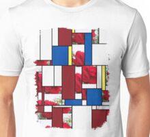 Red Rose Edges Art Rectangles 4 Unisex T-Shirt