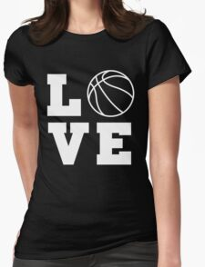 Basketball Love Womens Fitted T-Shirt