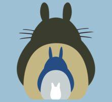 Totoro Trio One Piece - Short Sleeve