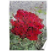 Red Rose Edges Mosaic Poster
