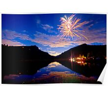 Rocky Mountains Private Fireworks Show Poster
