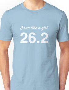 I run like a girl 26.2 Unisex T-Shirt