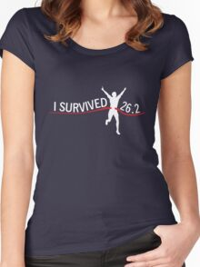 I survived 26.2 Women's Fitted Scoop T-Shirt