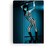 Stripey hanges on in  Canvas Print
