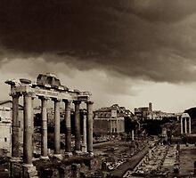 Roman Forum in Storm by Anthony Boccaccio