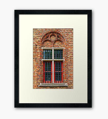 A Window from Bruges Framed Print