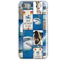 please swim between the flags iPhone Case/Skin