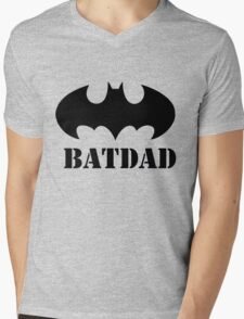BATDAD Mens V-Neck T-Shirt