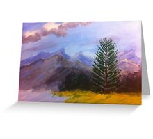 Majestic Sprucey by Terri Holland Greeting Card