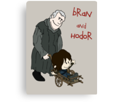 Bran & Hodor - Game of Thrones / Calvin & Hobbes Canvas Print