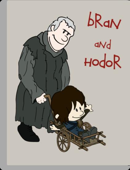 Bran & Hodor - Game of Thrones / Calvin & Hobbes by Joshua Noland