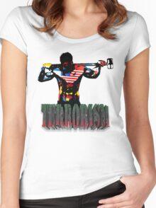 smash terrorism Women's Fitted Scoop T-Shirt