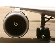 Engine and Landing Gear Photographic Print