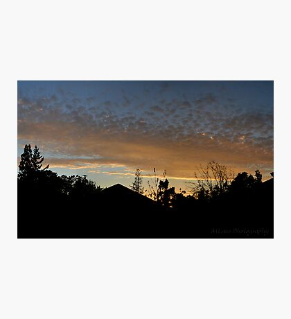 Sunset over Campbell Photographic Print