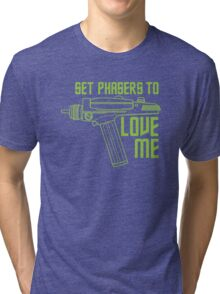 Set Phasers to Love Me (Color Variant) Tri-blend T-Shirt