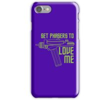 Set Phasers to Love Me (Color Variant) iPhone Case/Skin