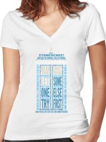 """Doctor Who TARDIS Quotes shirt - Eleventh Doctor """"Pandorica"""" Version Women's Fitted V-Neck T-Shirt"""