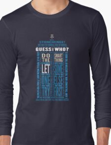 "Doctor Who TARDIS Quotes shirt - Eleventh Doctor ""Pandorica"" Version Long Sleeve T-Shirt"