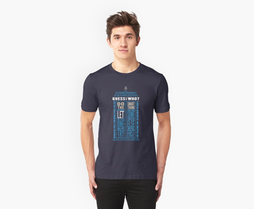 "Doctor Who TARDIS Quotes shirt - Eleventh Doctor ""Pandorica"" Version by DesignComa"