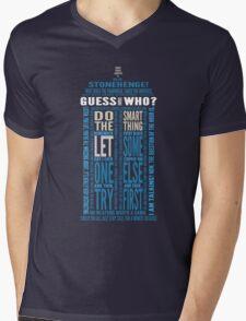 "Doctor Who TARDIS Quotes shirt - Eleventh Doctor ""Pandorica"" Version Mens V-Neck T-Shirt"