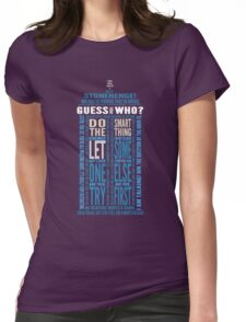 "Doctor Who TARDIS Quotes shirt - Eleventh Doctor ""Pandorica"" Version Womens Fitted T-Shirt"