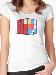 Solving the cube Women's Fitted Scoop T-Shirt