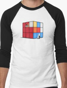 Solving the cube Men's Baseball ¾ T-Shirt