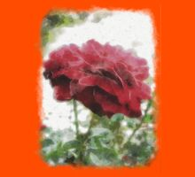 Red Rose with Light 1 Watercolor Kids Clothes