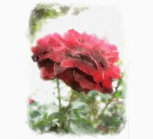 Red Rose with Light 1 Watercolor Unisex T-Shirt