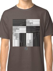 """Merge Sort Algorithm in Black and White""© Classic T-Shirt"
