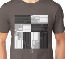 """Merge Sort Algorithm in Black and White""© Unisex T-Shirt"
