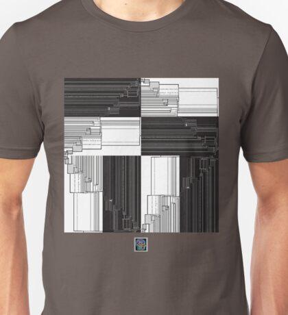 """Merge Sort Algorithm in Black and White""© Unisex T-Shirt"