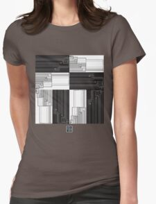 """Merge Sort Algorithm in Black and White""© Womens Fitted T-Shirt"