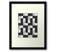 """""""Merge Sort Algorithm in Black and White""""© Framed Print"""