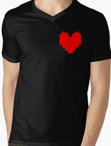 Wear Your Heart On Your Sleeve Mens V-Neck T-Shirt