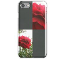 Red Rose with Light 1 Blank Q6F0 iPhone Case/Skin