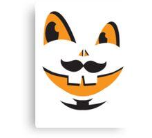 JACK-O-LANTERN smiley face cute smiles with teeth! Halloween! Canvas Print
