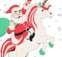 SANTA UNICORN- SANTA UNICORN UGLY SWEATER- UGLY CHRISTMAS SWEATSHIRT Sticker