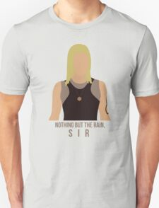 "Battlestar Galactica - Starbuck ""Nothing But The Rain, Sir"" Tee (No raindrops) T-Shirt"