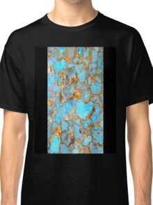 Turquoise and Gold iPhone / Samsung Galaxy Case Classic T-Shirt