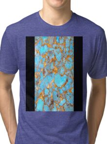 Turquoise and Gold iPhone / Samsung Galaxy Case Tri-blend T-Shirt