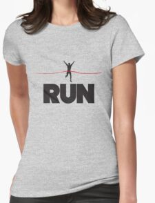 Run. Finish Line Womens Fitted T-Shirt