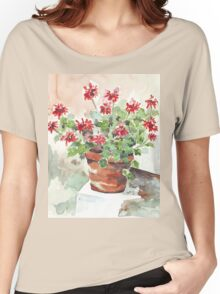 Sweet Geranium Women's Relaxed Fit T-Shirt