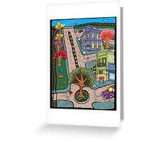 Sunday Morning Country Town  Greeting Card