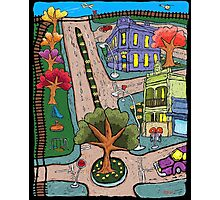 Sunday Morning Country Town  Photographic Print