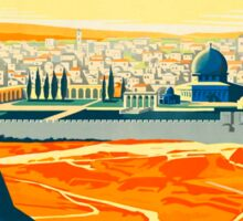 Visit Palestine Vintage Travel Poster Sticker