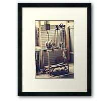 Old shearer Framed Print