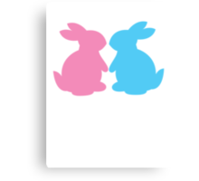 Cute little LOVE bunnies for Valentines Canvas Print