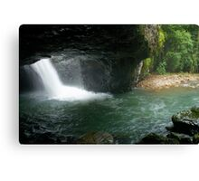 Natural Arch cave and waterfall . Numinbah. Queensland. Canvas Print