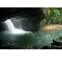 Natural Arch cave and waterfall . Numinbah. Queensland. Photographic Print
